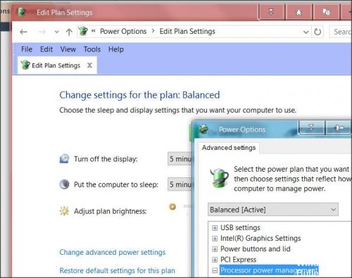 Adjust Power Management Options