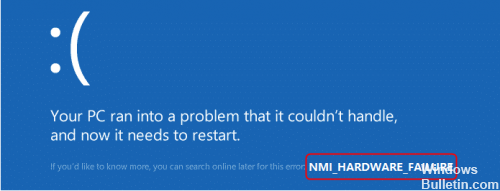 NMI_HARDWARE_FAILURE