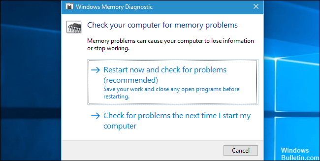 Windows Memory Diagnostics