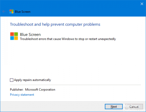 Blue Screen Troubleshooter