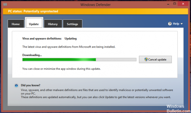 update-windows-defender-definition