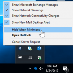 The application remains minimized in the taskbar