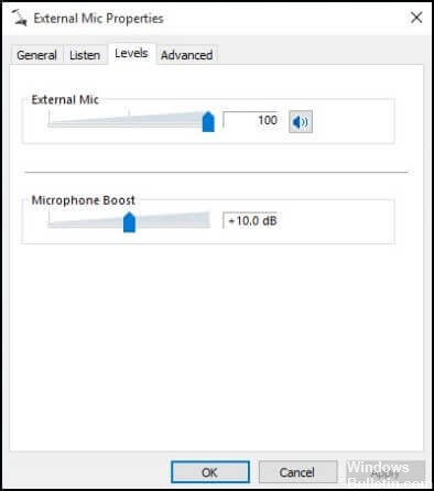 Fixing No Microphone Boost Option in Windows 10 - Windows