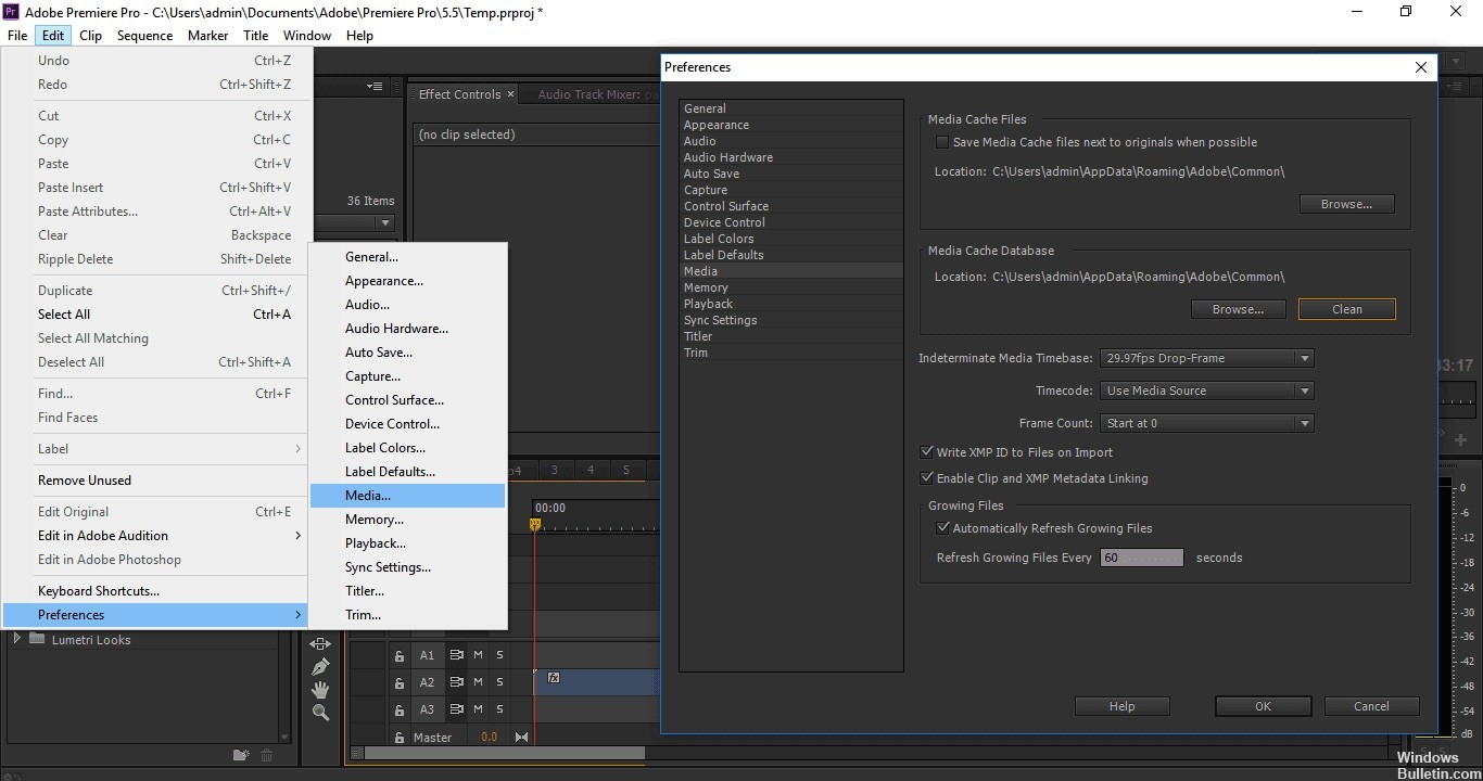 Fix The Importer Reported a Generic Error in Adobe Premiere