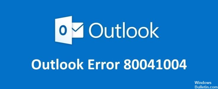 To fix Outlook error 80041004 in Windows