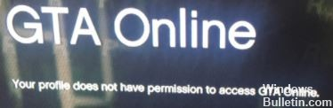 Your profile does not have permission to Access GTA Online