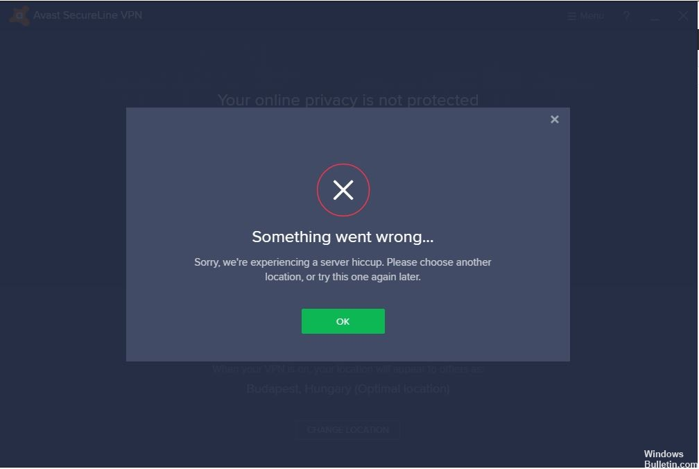 Avast SecureLine VPN Connection Errors Fix - Windows Bulletin ...
